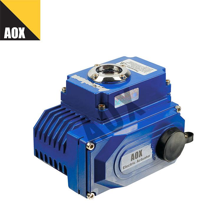 Compact quarter turn electric actuator
