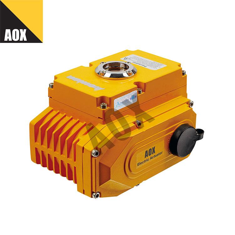 Compact motorized quarter turn actuator