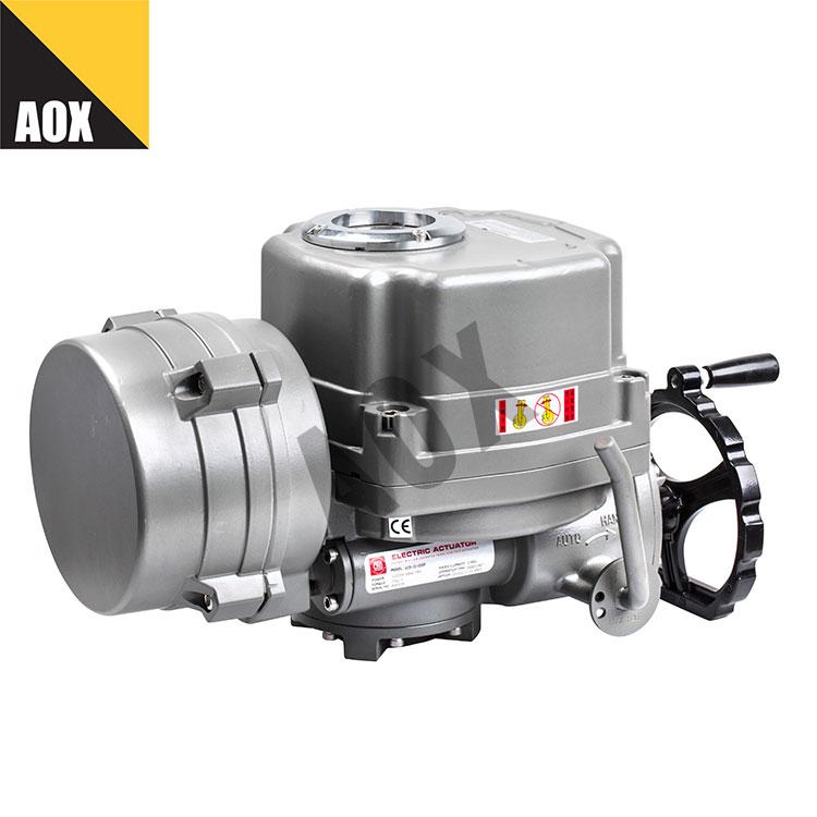 Modulating motorized quarter turn actuator