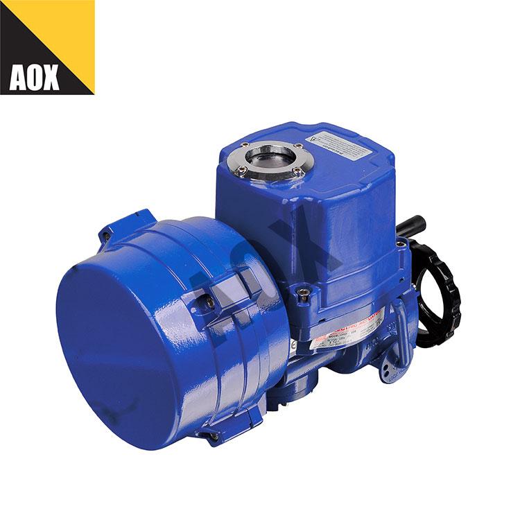 Smart motorized quarter turn actuator