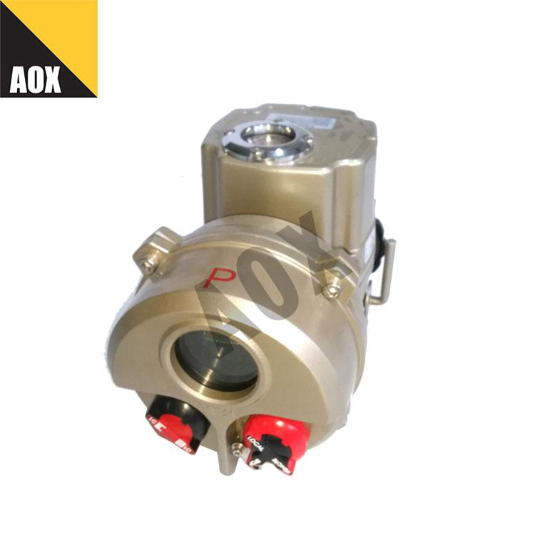 Non-intrusive setting part turn electric actuator