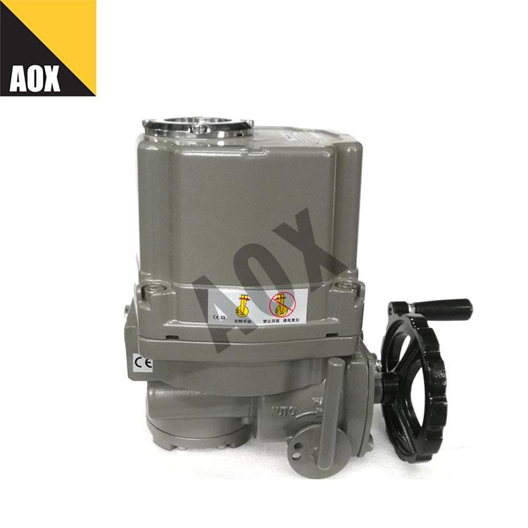 Manual override part turn electric actuator