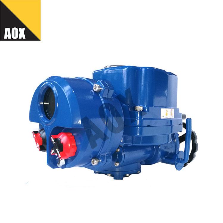 Non-intrusive setting motorized part turn actuator