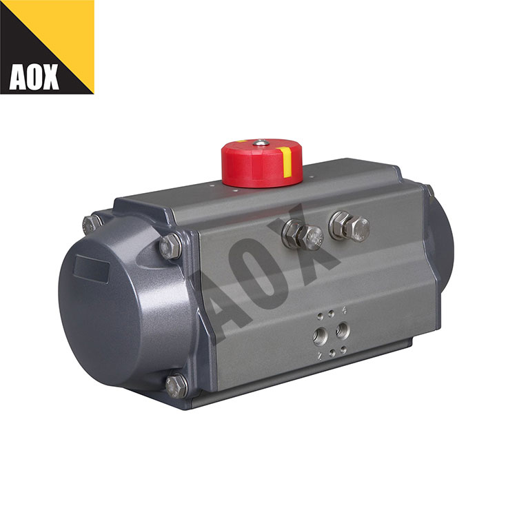Industrial double acting pneumatic rotary actuator