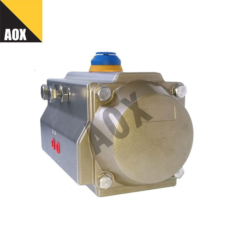 Small single acting pneumatic actuator