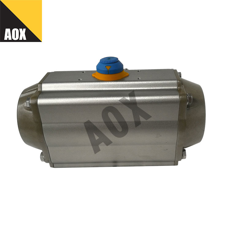 Industrial single acting pneumatic rotary actuator