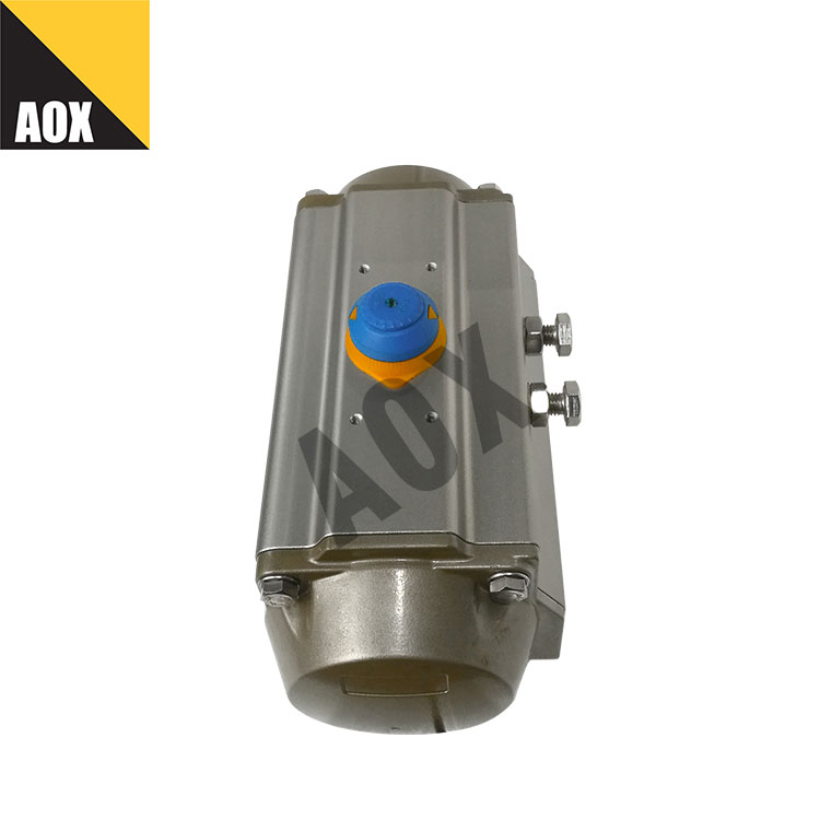 High speed single acting pneumatic rotary actuator