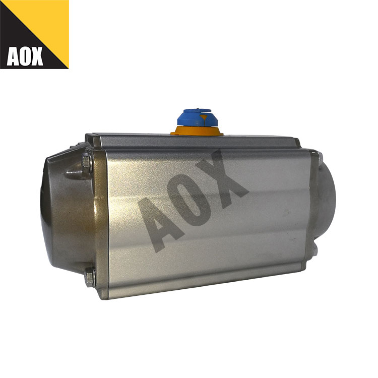 Industrial spring return pneumatic actuator