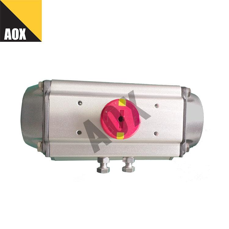 High speed spring return pneumatic actuator