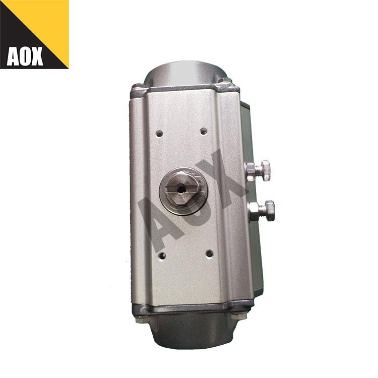 Small spring return pneumatic actuator