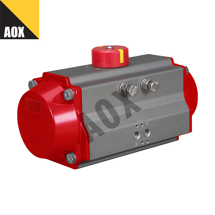 Industrial spring return pneumatic rotary actuator
