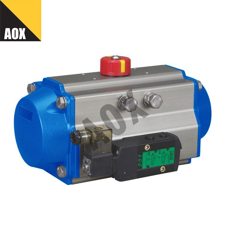 High speed spring return pneumatic rotary actuator