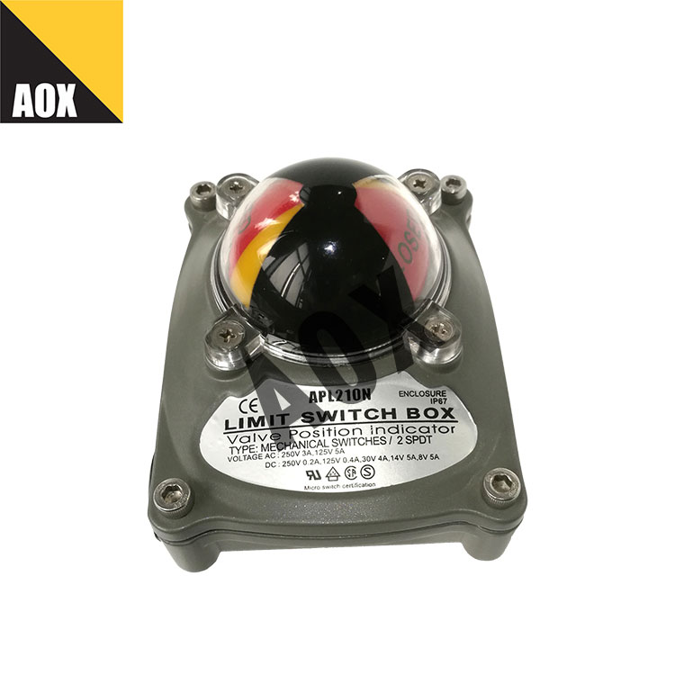 Valve position indicator waterproof limit switch box